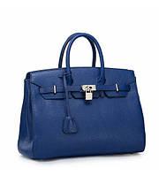 Женская кожаная сумка Hemes1 синяя