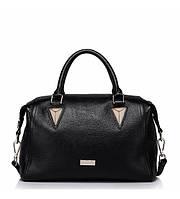 Женская кожаная сумка Pappy черная