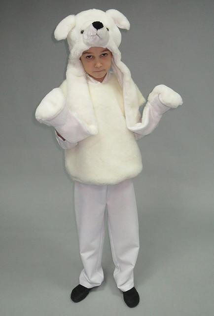 Белый медведь. Детский карнавальный костюм.