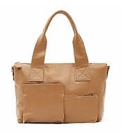Женская кожаная сумка Mature бежевая