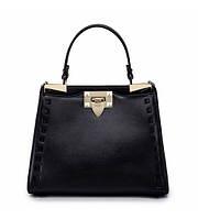 Женская кожаная сумка Flash черная