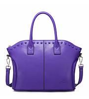 Женская кожаная сумка Viola фиолетовая