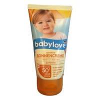 Детский солнцезащитный крем для чувствительной кожи 50+ Babylove sensitive Sonnencreme  75 мл