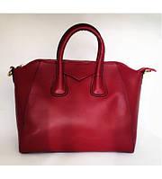 Женская кожаная сумка Top central красная