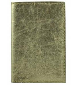 Обложка для паспорта кожаная U-01 золотая