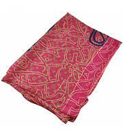Шелковый шарф Louis Vuitton Haus малиновый