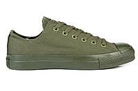 Мужские кеды Converse Chuck Taylor All Star (конверс) низкие зелёные