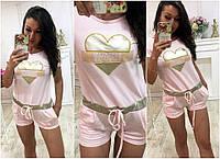 """Женский стильный комбинезон с шортами 380 """"PAPARAZZI FASHION"""" в расцветках"""