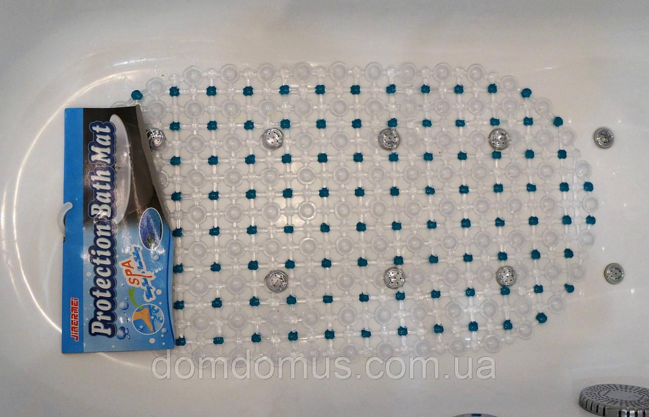 Коврик для ванной антискользящий на присосках 35*65 см