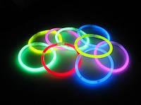 Светящиеся палочки, неоновые браслеты (50 шт.), фото 1