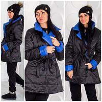 Женская куртка удлиненная п-40032