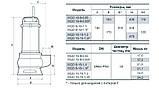 Дренажно-фекальный насос Насосы+ WQD 8-16-1,1F, фото 3