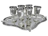 Оригинальный набор рюмок 6 шт. на подносе - купить на подарок руководителю на юбилей