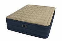 Надувная кровать высокая односпальная с встроенным насосом 102 cм х 203 см