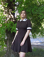 Школьное платье для девочек ст. школы с клешеной юбкой