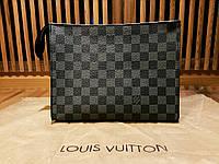 Клатч Louis Vuitton черный в клетку