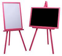 Мольберт Тренога Доска для рисования 103-110*63*43 для маркеров, мела. Немагнитный. В наборе: губка, мелки. С4