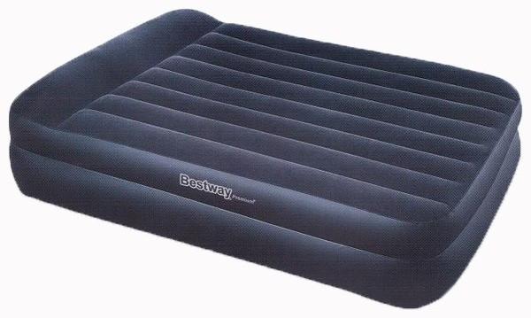 Надувная велюр кровать Bestway 203х163х48 см со встроенным насосом - Человечек - интернет магазин детских товаров в Киеве