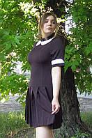 Школьное платье для девочек ст. школы с юбкой в складку
