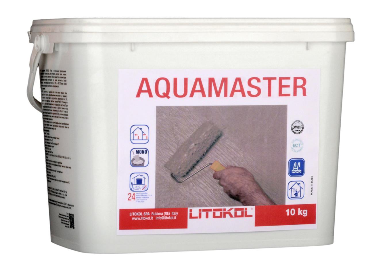 Гидроизоляция готовая однокомпонентная Litokol Aquamaster (аквамастер) 20 кг, (внутр/наруж)