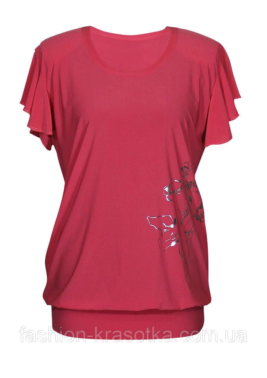 Удлиненная футболка-туника Ирисы