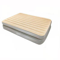 Надувная кровать двухместная с встроенным насосом 203х152х41 см