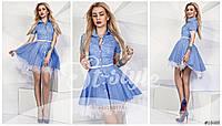 Женское хлопковое платье с кружевом