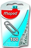 """Скрепки стальные """"Maped"""", 25 мм, 100 шт"""