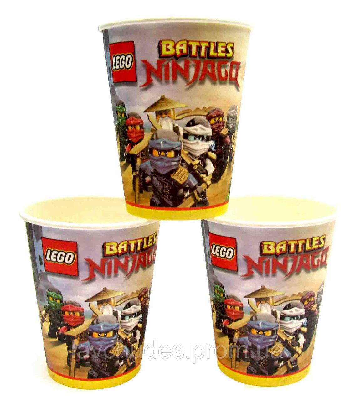 Стаканы одноразовые, праздничные (посуда) Лего Ниндзяго
