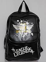 Рюкзак Легенда стильный кож.зам черный, фото 1