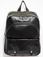 Рюкзак стильный кож.зам черный, фото 1