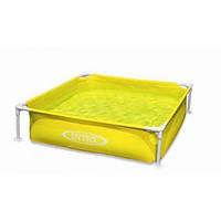 Каркасный детский бассейн Intex Интекс 122х122х30 см 340 л Желтый