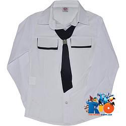 """Школьная блузка с длинным рукавом """"Classic"""", для девочек от 7-11 лет"""