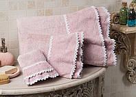 Полотенце махровое для лица и рук хлопок/бамбук Plenty pink 50*90.
