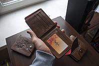 Мужской кошелек. Кожаный бумажник Bailini, фото 5