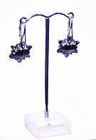 Серьги женские Swarovski Edelweiss 6748 Crystal Silver Night