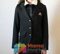 Школьный пиджак из костюмной ткани Baby Angel 687, цвет черный