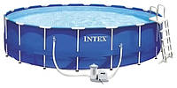 Каркасный бассейн Intex 28252/54952 Metal Frame Pool 549х122 см