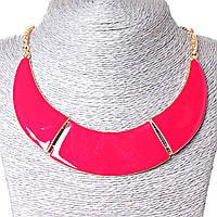 [130х20 мм.] Ожерелье Воротник 3 части металл Gold и красный глянец