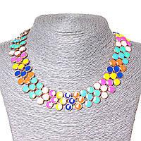 Ожерелье Ягодки разноцветное, металл Gold и глянец