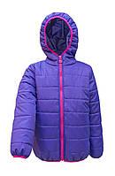 Демисезонная курточка для девочки цвета фиалки