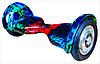 """Гироскутер Smartway UERA-ESU002 абстракция, синий 10"""",пневматические колеса"""