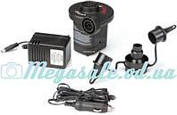 Насос электрический Intex 66632 Electric Pump: 3 насадки, 12/220 Вольт
