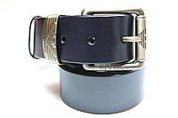 Брендовый синий ремень 'Armani' 40 мм