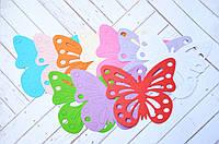 Бумажные бабочки, 10 цветов, 20 шт., размер 10*8 см