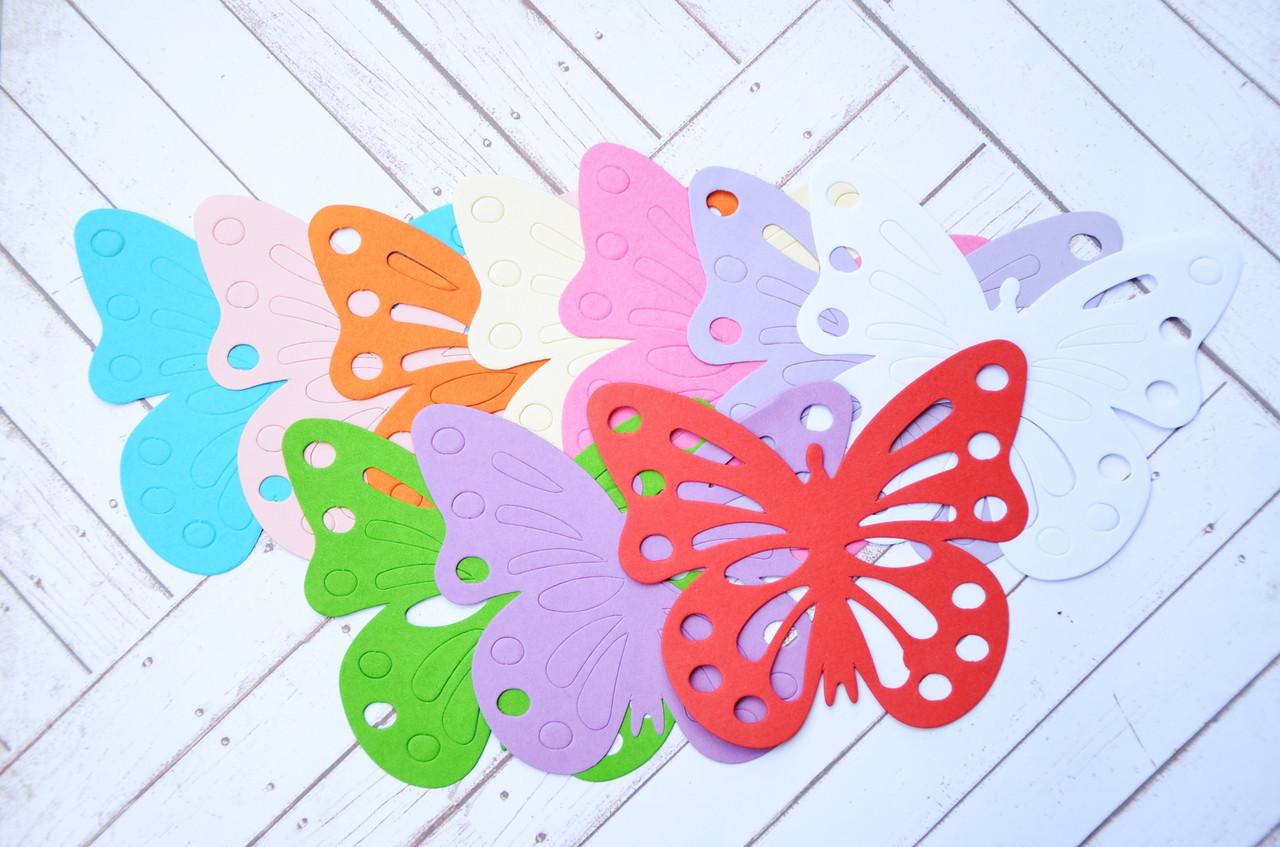 Бумажные бабочки, 10 цветов, 20 шт., размер 10*8 см -  Handmade лавка в Одессе