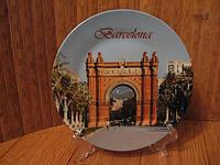 Тарелка сувенир Барселона