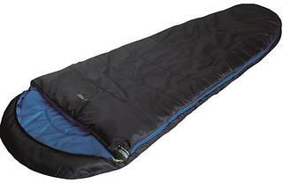 Практичный спальный мешок High Peak TR 300 / +0°C (Left) Black/blue, 922672 черный