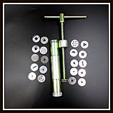 Экструдер металлический для полимерной глины, в комплекте 20 дисков, фото 2
