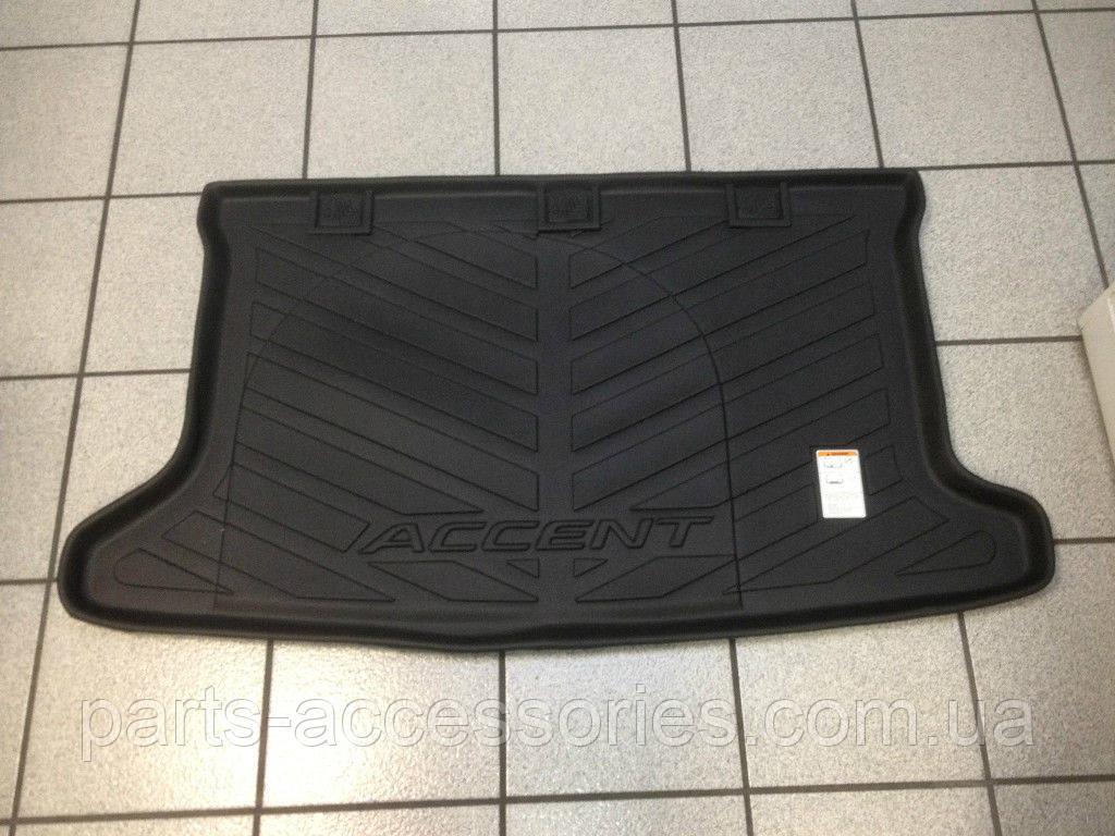 Гумовий килимок в багажник Hyundai Accent седан 2012-16 новий оригінал
